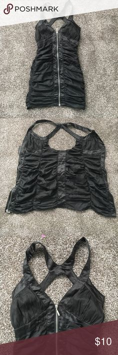 BLACK SEXY DRESS Worn once. Excellent condition. Tag listed above for size and brand. (No other tag attached) Comfy and sexy Dresses