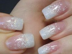 french nails with glitter line - Google Search