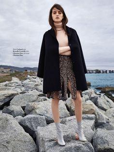 """Coat"" Georgia Taylor for ELLE Slovenia November 2015"