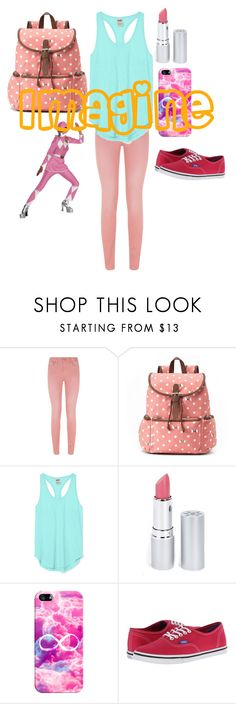 """""""Imagine... Being the pink ranger"""" by nbrmacdonald ❤ liked on Polyvore featuring Saltspin, Candie's, Victoria's Secret PINK, HoneyBee Gardens, Casetify, Vans and Disguise"""