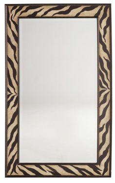 Melange Zebra Motif Framed Mirror   Mirrors