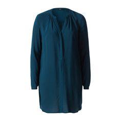 Blaue Bluse im Longstyle #zerofashion #blue