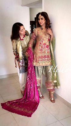 Farah Talib Aziz Beautiful Pakistani Dresses, Pakistani Wedding Dresses, Pakistani Bridal, Pakistani Outfits, Indian Dresses, Indian Outfits, Women's Ethnic Fashion, Oriental Fashion, Indian Fashion