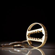 Tasche Werkzeug Keychain Schraubenschlüssel CNC-Bronze