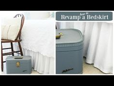 How to revamp a bedskirt - YouTube