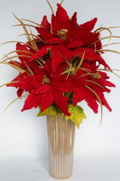 Holiday/Christmas Artificial Flower by BeautyEverlasting on Etsy