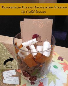 #Thanksgiving Craft: 'Conversation Starter' Centerpiece #turkeytablescapes