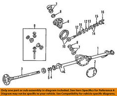 Jeep Chrysler 99-04 Grand Cherokee Rear-differential Case 5012808ab #car #truck #parts #transmission #drivetrain #axle #5012808ab