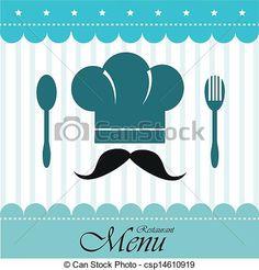 Vector - restaurante - stock de ilustracion, ilustracion libre de, stock de iconos de clip art, logo, arte lineal, retrato de EPS, Retratos, gráficos, dibujos gráficos, dibujos, imágenes vectoriales, trabajo artístico, Arte Vectorial en EPS