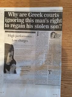 The abduction of Christopher lomax Greece Holiday, 7 Year Olds, Old Boys, Cuttings, Family Holiday, Plant Cuttings
