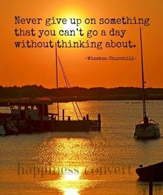 Never give up quote via www.Facebook.com/HappinessConvert