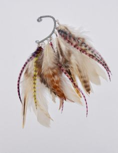 Feather Ear Cuff - Creamy
