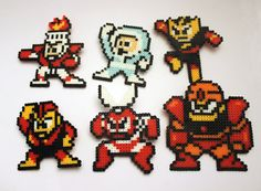 Mega Man 1 Robot Masters Brooch Set