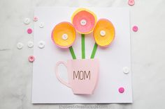 Over of the best Mothers Day Crafts for Kids. Lots of homemade crafts and gifts kids can make for Mother's Day. Handprint crafts, cards, and keepsakes Mom will love! Mothers Day Crafts For Kids, Mothers Day Cards, Happy Mothers Day, Fort Kit, Shirt Diy, Button Cards, Flower Template, Cool Cards, Cards Diy