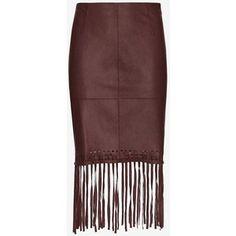 Elizabeth and James Jaxson Leather Fringe Skirt