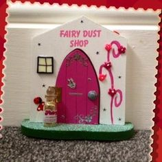 "Fairy Dust Shop door to go outdoors on a tree trunk or on a skirting board indoors - get it from ""Enchanted Doorways"""