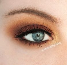 'Autumnal Eyes' Idea Gallery look by MakeupbyHilary using Makeup Geek's Bitten, Cocoa Bear, Gold Digger, Peach Smoothie, and Vanilla Bean eyeshadows.