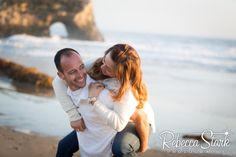 Engagement Session in Santa Cruz couple on beach