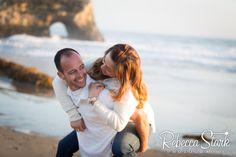 Engagement Session in Santa Cruz couple on beach