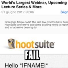 "HootSuite ""Hello *IFNAMEI*"""