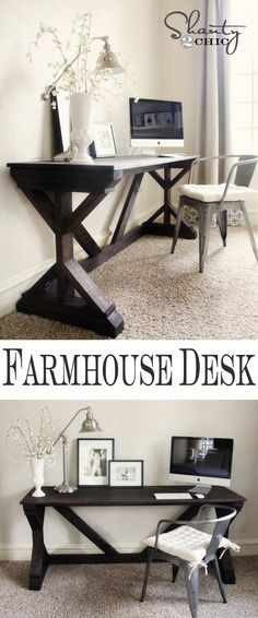 Farmhouse Style Bedroom Desk