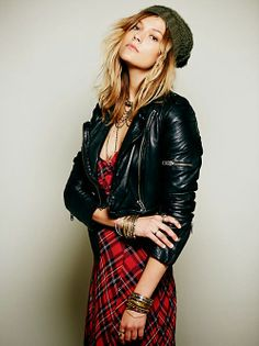 Free People Convertible Length Leather Jacket