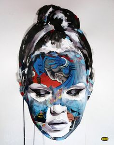 Sandra Chevrier's Mixed Media Women Portraits. Female Portrait, Portrait Art, Sandra Chevrier, Identity Art, Gcse Art, Portraits, Comics Girls, Art Sketchbook, Installation Art