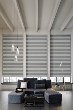 A contemporary stripe design merges confident tones with an iridescent glimmer to offer a touch of sumptuous luxury. Trend-led colours ensure this block out fabric maintains style and functionality. Blinds For Windows, Curtains With Blinds, Window Blinds, Blinds Online, Made To Measure Blinds, Interior Styling, Interior Design, Modern Blinds, Dining Room