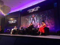 Guillermo del Toro, Rinko Kikuchi, Ron Perlman, & Charlie Day in Mexico before the Pacific Rim premiere.