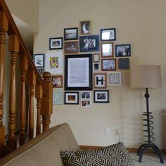 Gallery wall arrangement