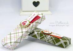 Fold Flat Summer Camping Candle Box using Christmas Paper