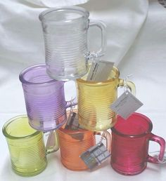 1-Votive Colored Can Holder~6-Colors You Choose~FREE~T-Lite Candle~5-Oz Glass #PremiumCircleware