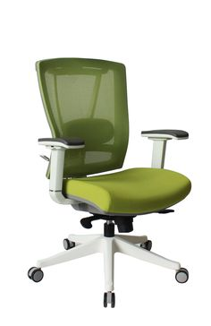 Hot sales,Super comfortable chair, white frame, adjustable lumbar support,  3D armrest