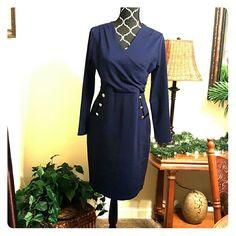 Spotted while shopping on Poshmark: V-Neck  Slim Business Pencil Dress NWT! #poshmark #fashion #shopping #style #Amylia #Dresses & Skirts