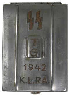 Creepy powder case owned by Ravensbruck female guard, complete with SS lightning bolt runes. Global Conflict, Old Advertisements, Story Of The World, Historical Images, Lightning Bolt, Guy Pictures, Military History, Runes, Never Give Up