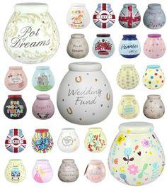 Pots of Dreams Ceramic Money Pot Box Jar - Christmas Birthday Wedding Gift Money Jars, Money Box, Christmas Jars, Christmas Birthday, Wedding Gifts, Pots, Projects To Try, Dream Wedding, Piggy Banks