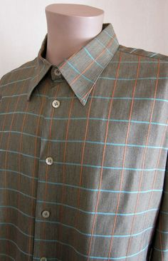 ZANETTI Multi-Color Window Pane Luxury Designer Shirt XXL 2XLarge Made in ITALY…