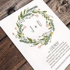 Floral Watercolor PRINTABLE Wedding Program  by FreckledFoxPrints