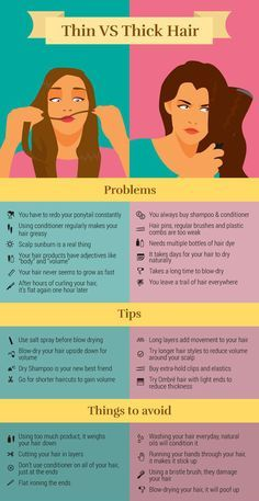 Hair solutions, both thick and thin. | 31 Charts That'll Help You Have The Best Hair Of Your Life