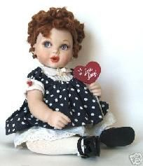Lucille Ball I LOVE LUCY FRANKLIN MINT BABY DOLL