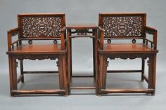 Chinese Low back chairs