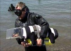 dog diver and her master Sergey Gorbunov lives in city Vladivostok , Russia.