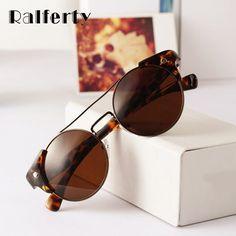 Ralferty Vintage Metal Sunglasses Women Round Brand Designer Retro CIRCLE Sun Glasses For Men uv400 Eyewear Hip Hop Punk H82 #Affiliate