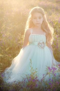 Ivory and Mint Double Layered Tutu Dress by littledreamersinc