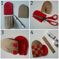 Two woven pieces of construction paper make a homemade coin purse.