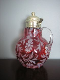 Antique Daisy and Fern Pattern Fenton Syrup by classicstyleshop, $225.00