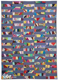what a good way to use up all those small bits n pieces we have/15 Minutes of Play—Improvisational Quilts | Flickr - Photo Sharing!