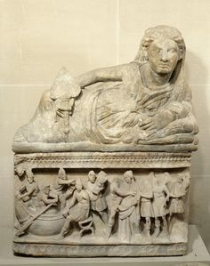 Etruscan sarcophagus from Volterra  C.350BC