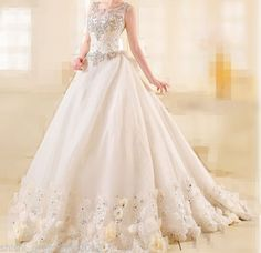 White or Ivory Charming Beaded Bow Wedding Dress, Bridal Gown, Custom Made · LilyGowns.com · Online Store Powered by Storenvy