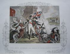 Smith defending Acre in 1799.  Engraving by Thomas Kelly c1830.